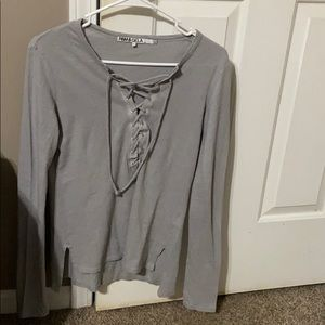 Pam and gela tie up long sleeve top size xs p